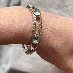Silver and gem bracelet